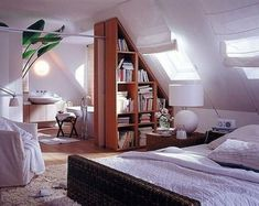 What comes in your mind when somebody said loft room? Can it be the dusty, chilly, old room which is certainly unsuitable for a bedroom? ) If so, then you will need to observe these minimalist and modern loft bedroom… Continue Reading → Attic Bedroom Small, Attic Bedroom Designs, Attic Bedrooms, Attic Spaces, Attic Bathroom, Extra Bedroom, Basement Bathroom, Design Bedroom, Loft Room