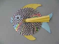 fish using CD's