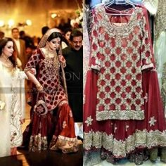 Latest designs & style of red color wedding bridal dresses  collections for pakistani girls 2016 17