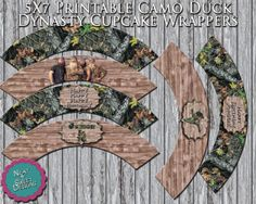 Duck Dynasty Camo Cupcake Wrappers  Pink by NeatAndSweetDesigns, $3.00