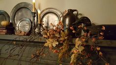 Autumn display on the mantle