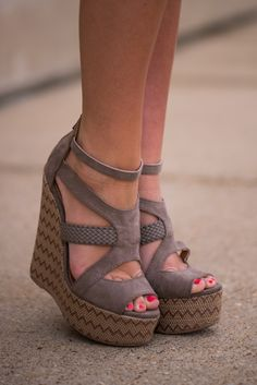 LOVE these wedges! The ankle strap and the overall design is to die for! How can you say no to these taupe cuties?!