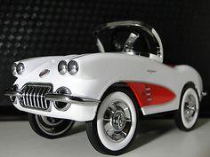 Pedal CAR Vintage 1950s Chevy Corvette Sport HOT ROD Midget Metal Show Model ART | eBay