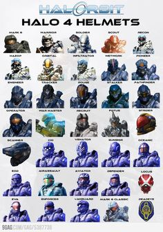 Halo 4 Helmets. I personally still favor the original Mark 6.