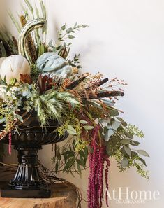GOURD-geous Thanksgiving arrangement by Dale at Silks a Bloom! Fall Flower Arrangements, Floral Centerpieces, Seasonal Flowers, Fall Flowers, Autumn Display, Fall Displays, Garden Styles, Fall Halloween, Fall Decor