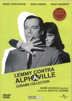 """El agente secreto Lemmy Caution es enviado a una misión a la futurista ciudad Alphaville para convencer al profesor Von Braun de que regrese a los """"países exteriores"""""""