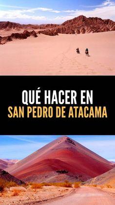 Qué hacer en San Pedro de Atacama, los imperdibles #sanpedro #atacama #chiletravel #chile The Places Youll Go, Places To Visit, Story Of The World, South America Travel, Peru, Koh Tao, Outdoor Gear, Landscape, Beach