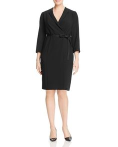 Marina Rinaldi Diva Faux Wrap Dress