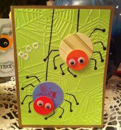Halloween card spider card for Simon