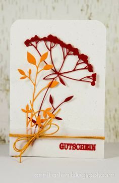 Annikarten: Crab... I forgot Memory Box: Graceful Silhouette, Fresh Foliage