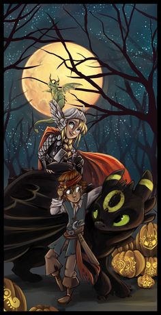 HTTYD Halloween by sharpie91.deviantart.com on @deviantART. Too cute to not repin!!
