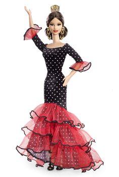 Barbie Collector Dolls Of The World Espanha Spain Bob Mackie, Barbie Dress, Barbie Clothes, Barbie Outfits, Barbie Stuff, Barbie Basics, Barbie Collector, Barbie World, Barbie Friends