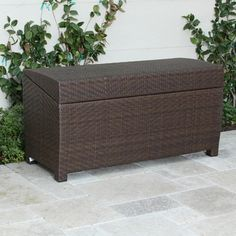 Christopher Knight Home Outdoor Wicker Storage Chest - contemporary - outdoor stools and benches - Overstock