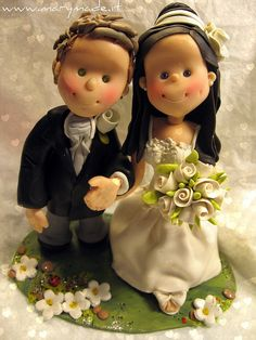 *POLYMER CLAY ~ Federicas cake topper by marytempesta, via Flickr