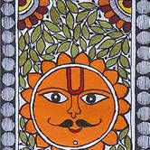 Buy Madhubani Painting Featuring The Sun Lord And Peacocks online. ✯ 100% authentic products, ✯ Hand curated, ✯ Timely delivery, ✯ Craftsvilla assured.