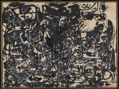 Jackson Pollock - Yellow Islands, Oil on canvas / From the Tate Gallery, London: Action Painting, Drip Painting, Painting Videos, Jackson Pollock, Rodin, Pollock Paintings, Lee Krasner, Tate Gallery, Art Terms