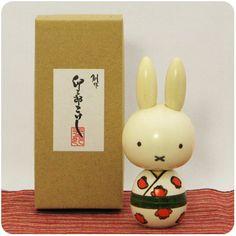 Miffy kokeshi - japanese doll