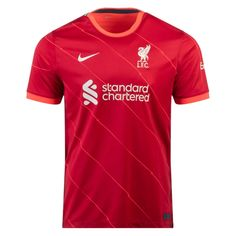 Liverpool 21/22 Home Men Soccer Jersey Personalized Name and Number – zorrojersey Liverpool Kit, Bill Shankly, World Soccer Shop, 21st, Nike, Mens Tops, How To Wear, Shirts, Shopping