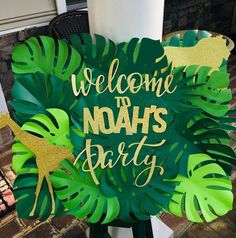 Welcome to Noah's Party ! Welcome Party Sign Jungle Theme Birthday Party Welcome to Noah's Party ! Welcome Party Sign Jungle Theme Birthday Party Safari Theme Birthday, Jungle Theme Parties, Wild One Birthday Party, Safari Birthday Party, Boy Birthday Parties, Birthday Party Decorations, Birthday Ideas, Jungle Theme Decorations, Birthday Pictures