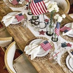 20 coolest Patriotic Day Table decor ideas for your July Party 2020 - Hike n Dip Fourth Of July Decor, Happy Fourth Of July, 4th Of July Decorations, 4th Of July Party, July 4th, Patriotic Party, 4th Of July Images, Birthday Table Decorations, Flag Decor