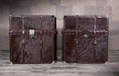 calfskin and leather steamer trunk <3