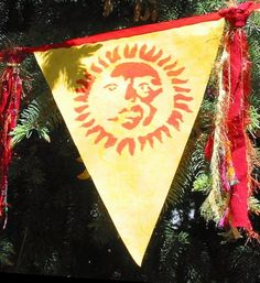 Wiccan Pagan Flags Summer Solstice Litha Element of Fire