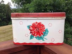 A personal favorite from my Etsy shop https://www.etsy.com/listing/533235260/vintage-distressed-bread-box