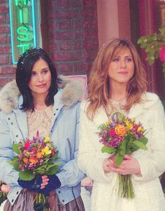 Monica & Rachel as bridesmaids in Phoebe's wedding.