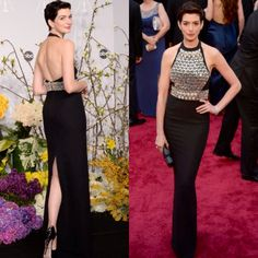 Beautiful dress! Anne Hathaway in Gucci at 2014 Oscars ceremony