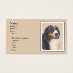 #Bernese Mountain Dog 2 Business Card - #bernese #mountain #dog #puppy #dog #dogs #pet #pets #cute #bernesemountaindog