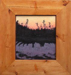 """TOM UTTECH, MAKATEWAGAMI (885), Oil on Museum Board, 17 1/2 x 16 1/2"""" framed"""