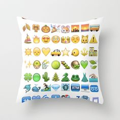 For all the emoji lovers out there. Emoji icons by colors Throw Pillow by Gal Raz - $20.00