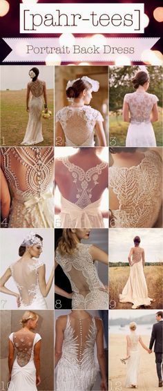 Moodboard Portrait Back Wedding Dress | pahr-tees.blogspot.com