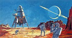 (könnte uns jemand den Original-Text zu diesem Bild schicken?)Landung auf dem Saturnmond Titan (Micky Maus, 1968)