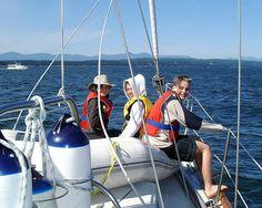 Sailing on Muppet (Maple Leaf 42)  in Gulf Islands, near Pirate Cove, BC