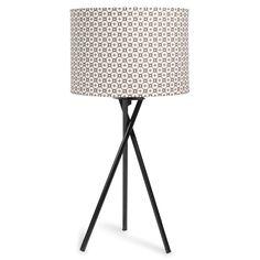 Lampe trépied en métal H 50 cm JANE