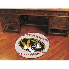 Missouri Tigers NCAA Baseball Round Floor Mat (29)