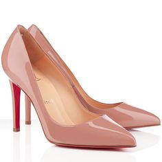 2c8b85ee01c Christian Louboutin Pigalle 100mm Patent Leather Pumps Nude