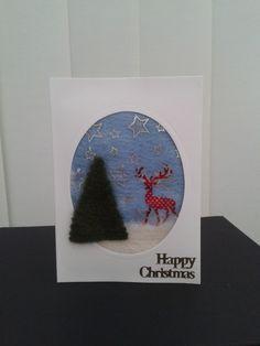 Christmas card - needle felted Reindeer (B) £2.25