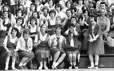 Guide Rock fans during the first-round game of the 1965 Class D Nebraska State Basketball Tournament at Lincoln High. Guide Rock beat Halsey-Dunning 58-55. Although Halsey-Dunning scored first, Guide Rock never trailed after the first quarter. THE WORLD-HERALD