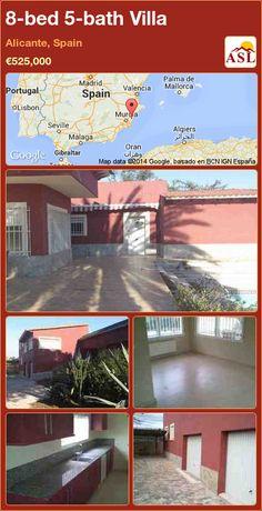 8-bed 5-bath Villa in Alicante, Spain ►€525,000 #PropertyForSaleInSpain
