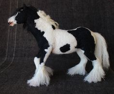 Needle felted GYPSY horse sculpture wool animal pet by NerijusArt, $210.00