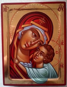 Mother of God,Virgin and child,Orthodox icon,hand gold Mother And Child Painting, Russian Orthodox, Unique Birthday Gifts, Religious Icons, Orthodox Icons, Paint Shop, Holy Spirit, Special Gifts, Religion