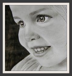 Tineke van t Veer: Zwart-wit portret van kind + Win een portrettekening!