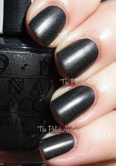 OPI Gwen Stefani Collection - 4 In The Morning - Love this black satin!