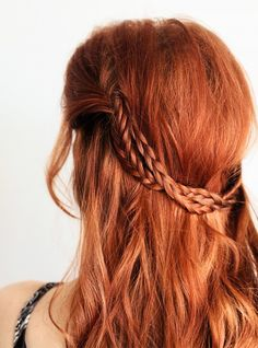 Paired with your natural wave and texture, this messy braided princess style looks relaxed but visually interesting at the same time. Click here for the full tutorial.