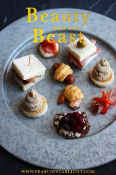 Recipes for hors d'oeuvres with the grey stuff inspired by the Be Our Guest scene in the Disney animated movie, Beauty and the Beast