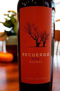 Recuerdo Malbec 2010 - Silky smooth spice. $20 #wine