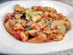 Tocanita de ciuperci cu pui in farfurie (reteta) Potato Salad, Potatoes, Meat, Chicken, Ethnic Recipes, Food, Potato, Essen, Meals