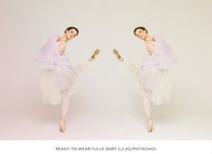 Ballet-inspired fashion - The ready-to-wear tulle skirt in lilac&pistachio / Cloud & Victory Spring/Summer 2015 - with Joy Womack.